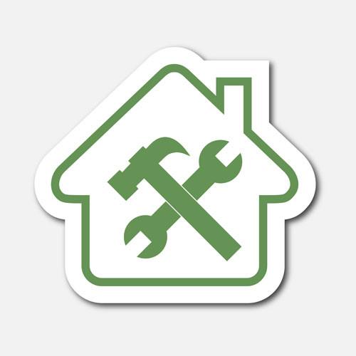 Logo maison et outils