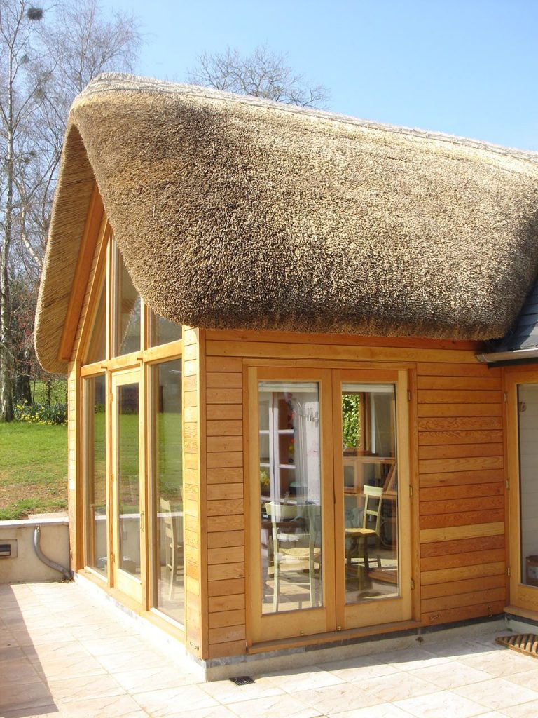 Eco timber-framed house