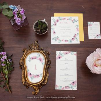 Papetterie original pour un mariage romantique