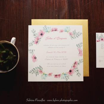Papetterie mariage romantique et original