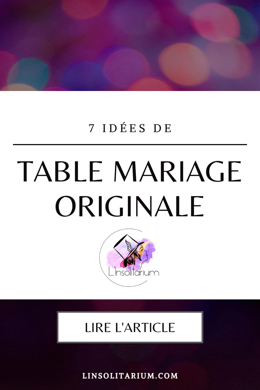 Idées de décoration de table de mariage rock et originale. Wedding planner pour mariages atypiques, originaux et insolites