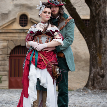 Mariage steampunk dans un château