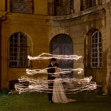 Light painting pour un mariage original