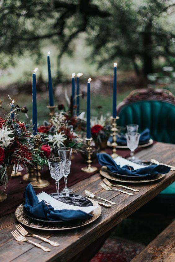 Idée de décoration de table de mariage hipster et rock. Wedding planner pour mariages originaux et insolites