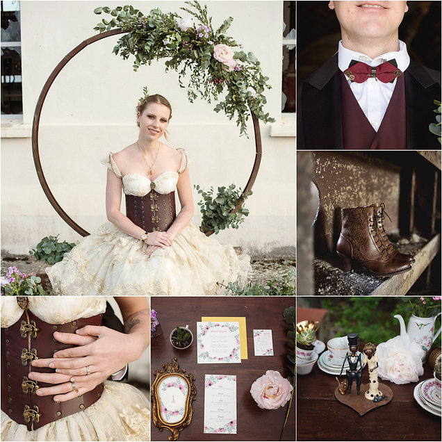 Wedding planner mariage original, mariage steampunk, mariage steampunk, wedding planner mariage atypique, décoratrice mariage atypique, décoration mariage original, inspiration mariage originale