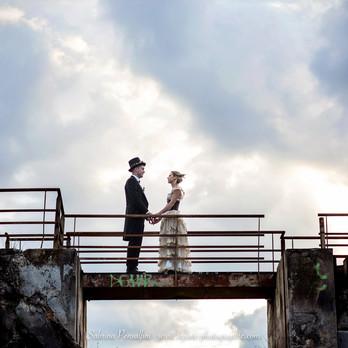 mariage steampunk en urbex