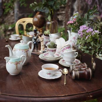 Décoration mariage d'un bar à thé original