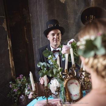 Décoration de table original pour un mariage romantique