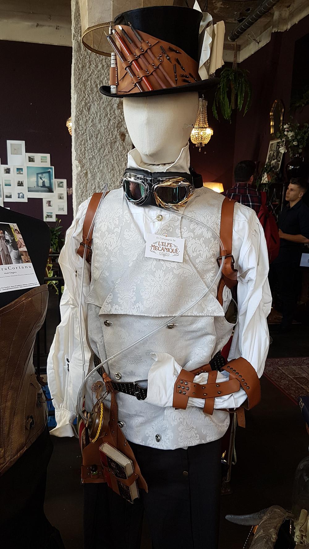 costume mariage steampunk, mariage alternatif, costume mariage atypique, sur-mesure
