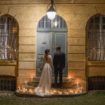 Mariage atypique dans les rues de Aix-en-Provence