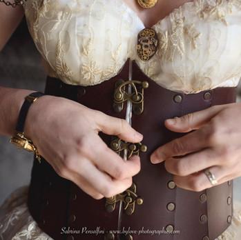 Robe de mariage steampunk