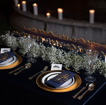 Décoration de table original pour un mariage atypique