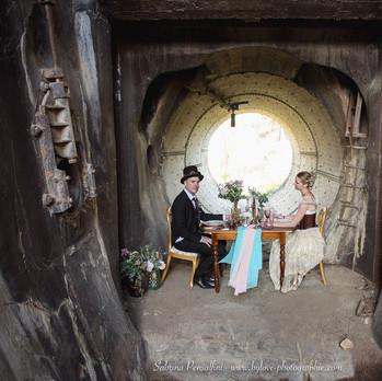 Mariage original en milieux urbex