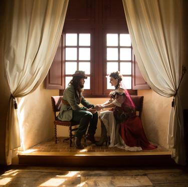 Wedding steampunk in castle