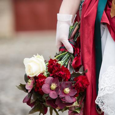 Bouquet de mariée original pour un mariage steampunk