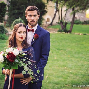 Wedding theme Adams Family -  bouquet de mariée pour un mariage original