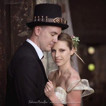 Mariage steampunk romantique