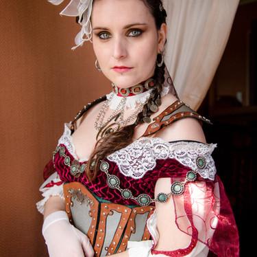 Mariée steampunk - robe de mariée - wedding dress - steampunk dress