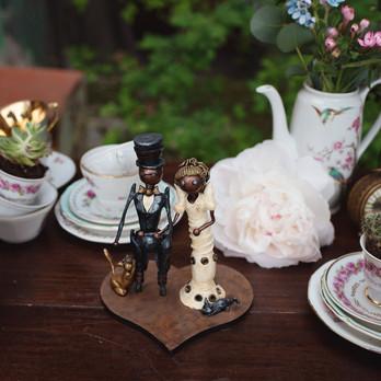 Décoration steampunk d'un bar à thé