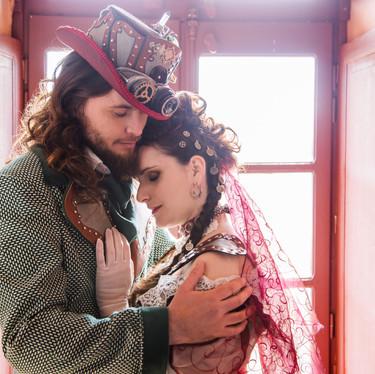 Mariés steampunk - steampunk bride - steampunk wedding