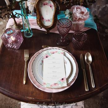 Décoration de table originale pour un mariage steampunk romantique