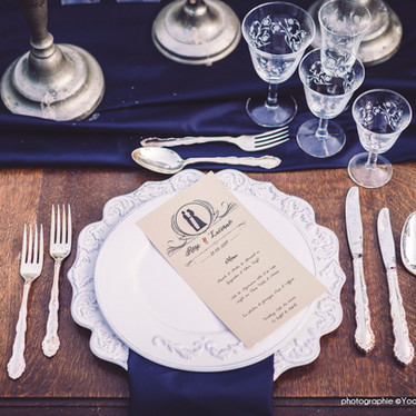 Wedding theme Adams Family -  décoration de table pour un mariage alternatif