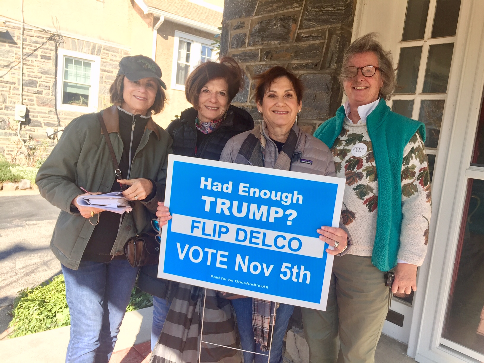 P&E Canvasses in Delco, 11/03/19