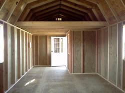 Side Lofted Barn Cabin Inside Framin