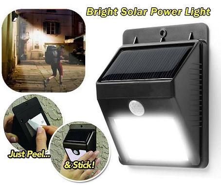 Lampara Automatica Solar Recargable Ever Brite Luz Led