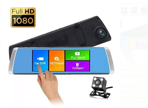 Espejo Retrovisor grande con Dos camaras  Full HD