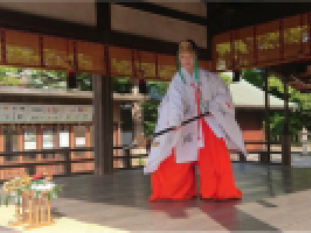 withコロナな取組紹介 コロナの早期終息を祈って夏越の神楽を奉納(城南宮)