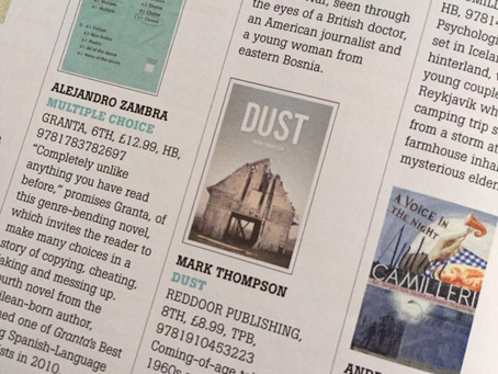 DUST featured in The Bookseller!!!
