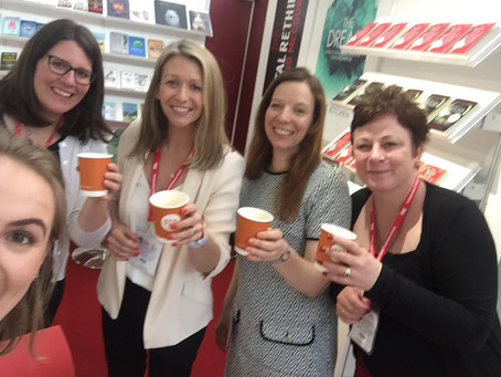 Fabulous Red Door Ladies at The London Book Fair - the best independent publishers! Go girls!