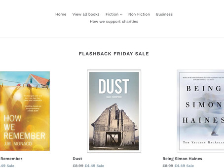 Bargain Books at Red Door! Get DUST and other fabulous books on offer! Lockdown reading....