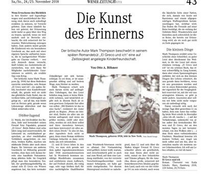 El Greco Und Ich (Dust - translated by Katja Scholtz) Reviewed in Wiener Zeitung the national newspa