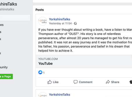 Delighted to be interviewed on Yorkshire Talks - Thanks Janette! x x