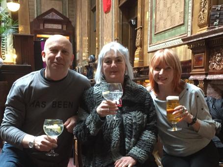 The newly formed Writers Rebelling Against Coronavirus a.k.a. 'WRAC' Me, Deborah Court & Maya George