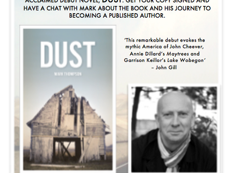 Signing DUST at Waterstones BRADFORD! Saturday 16th September, from 10.30 a.m.