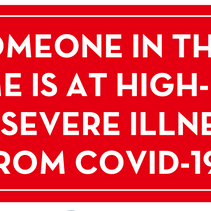 Personal COVID Warning Signs for your door