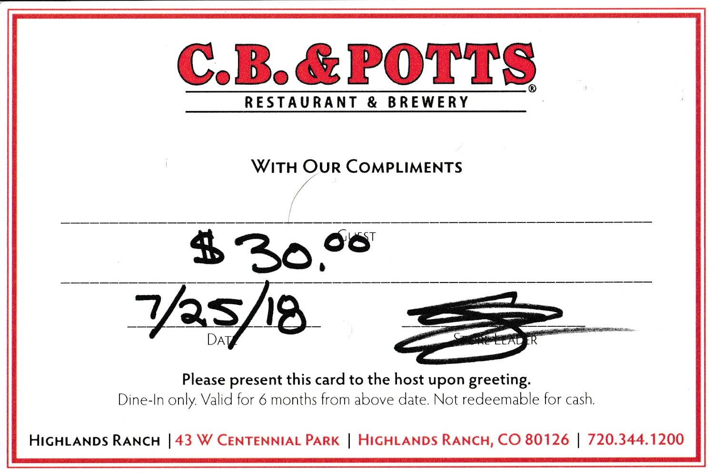 C.B. & Potts Restaurant