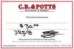 C.B. & Potts Restaurant