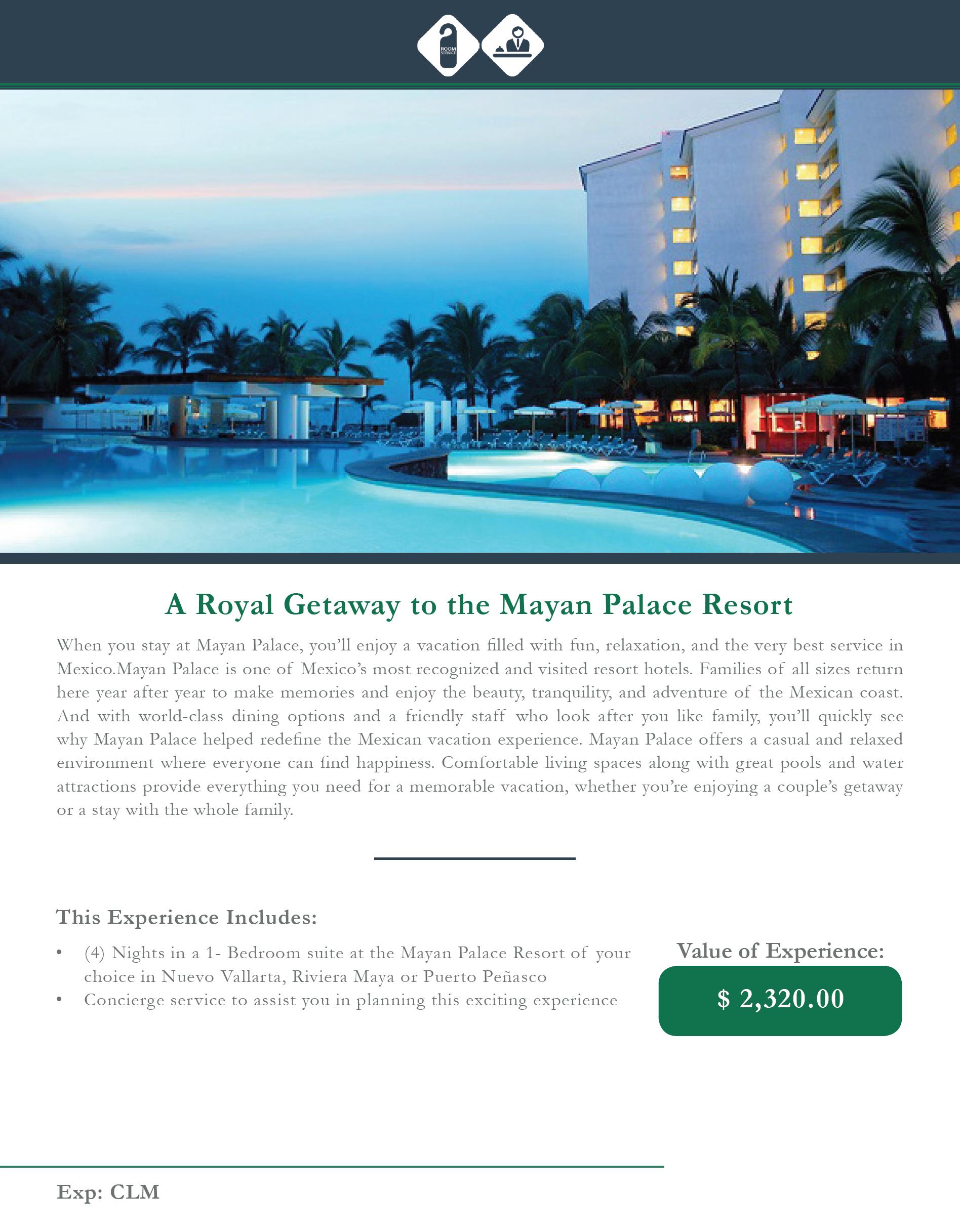 A Royal Getaway to the Mayan Palace