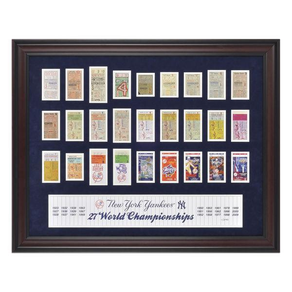 New York Yankees Framed 27-Time Cham