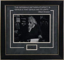 Albert Einstein Framed Photo w/ Lase