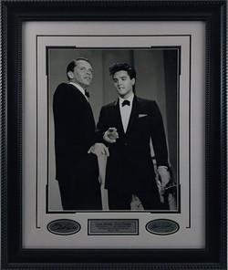 Elvis & Sinatra Framed 16x20 w/ Lase