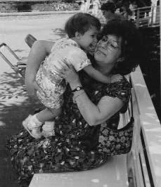 Luisa Roney with Katherine 1992