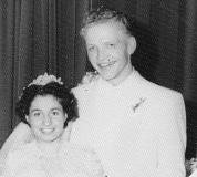 Mom and Dad wedding photo 1955