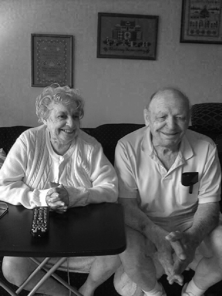Mom and Dad a week before she died