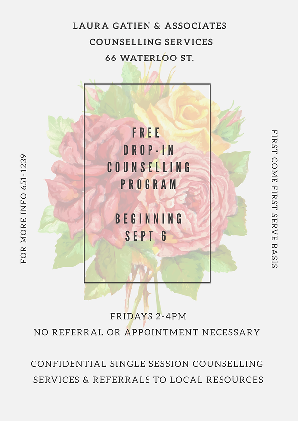 Free Drop In Clinic @ Laura Gatien & Associates Counselling Services Inc.