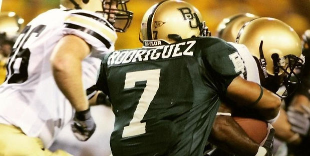 Rafael C. Rodriguez - Attorney - West Texas Trial Lawyer - Fort Stockton, Texas - rodriguezlegal.com - RDZlaw.com - Baylor University Football #7 (Ralph Rodriguez)